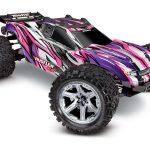 Traxxas-Rustler-4X4-VXL-Brushless-Stadium-Truck-RTR-TSM-2.4Ghz-Roze—zonder-batterij-en-lader