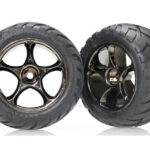 Traxxas-Tires—wheels–assembled-(Tracer-2.2—black-chrome-wheels–Anaconda-2.2—tires-with-foam-inserts)-(2)-(Bandit-rear)—TRX2478A