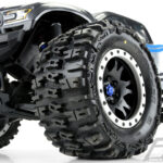 Proline-Trencher-4.3—Pro-Loc-All-Terrain-Tires-Mounted-for-X-MAXX-Front-or-Rear–Mounted-on-Impulse-Pro-Loc-Black-Wheels-with-Stone-Gray-Rings