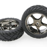 Traxxas-Tires—wheels–assembled-(Tracer-2.2—black-chrome-wheels–Anaconda-2.2—tires-with-foam-inserts)-(2)-(Bandit-front)—TRX2479A