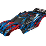 Traxxas-Body–Rustler-4X4-VXL–blue–window–grille–lights-decal-sheet-(assembled-with-front—rear-body-mounts-and-rear-body-support-for-clipless-mounting)—TRX6717P