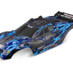 Traxxas-Body–Rustler-4X4–silver–window–grille–lights-decal-sheet-(assembled-with-front—rear-body-mounts-and-rear-body-support-for-clipless-mounting)—TRX6717X