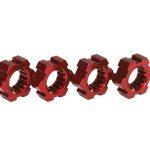 Traxxas-TRX7756R—Wheel-hubs–hex–aluminum-red-anodized-4