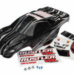 Traxxas-Body–Rustler-VXL–ProGraphix-(replacement-for-the-painted-body.-Graphics-are-printed–requires-paint—final-color-application)-decal-sheet–wing-and-aluminum-hardware—TRX3719